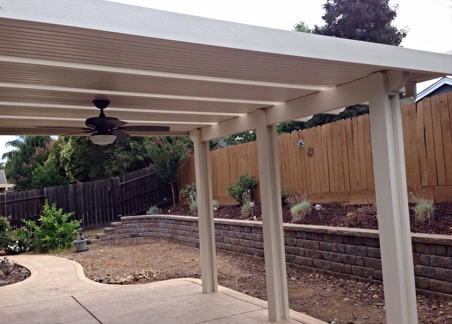 Solid Patio Cover by Pacific builders